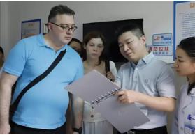 俄罗斯生殖专家访问团来我院四川省生殖专科医院参观交流