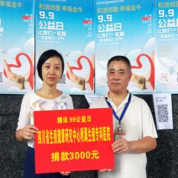 """四川省生殖专科医院积极参加""""99公益日""""活动"""